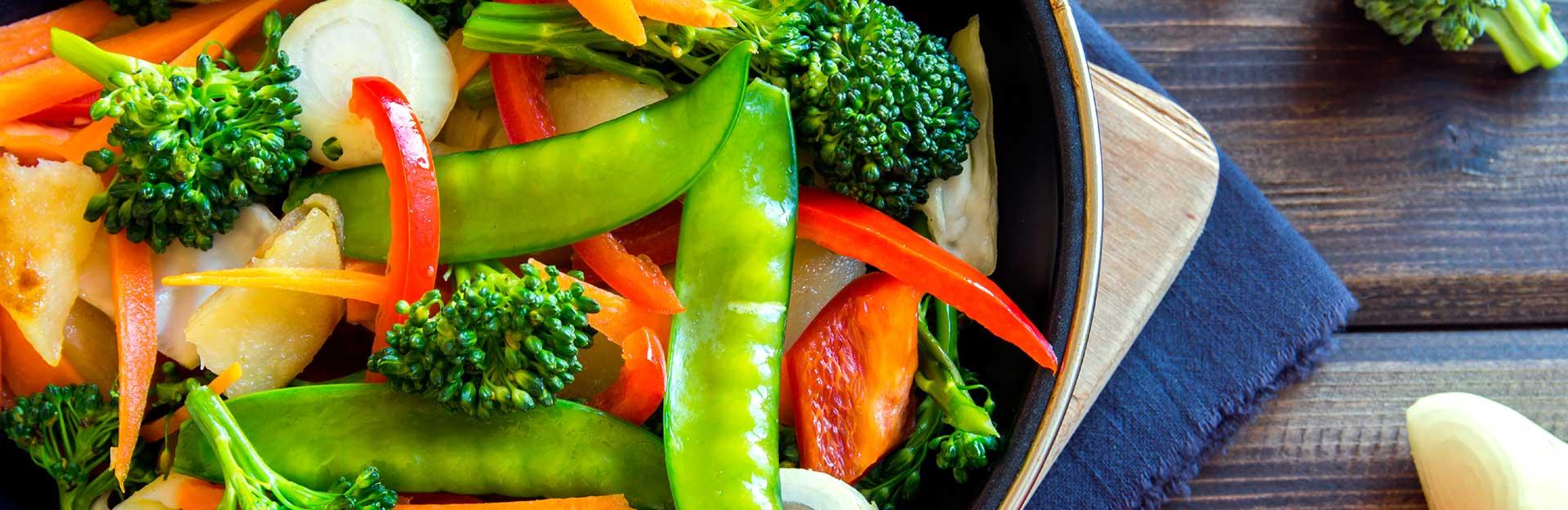 A vegetable stir fry