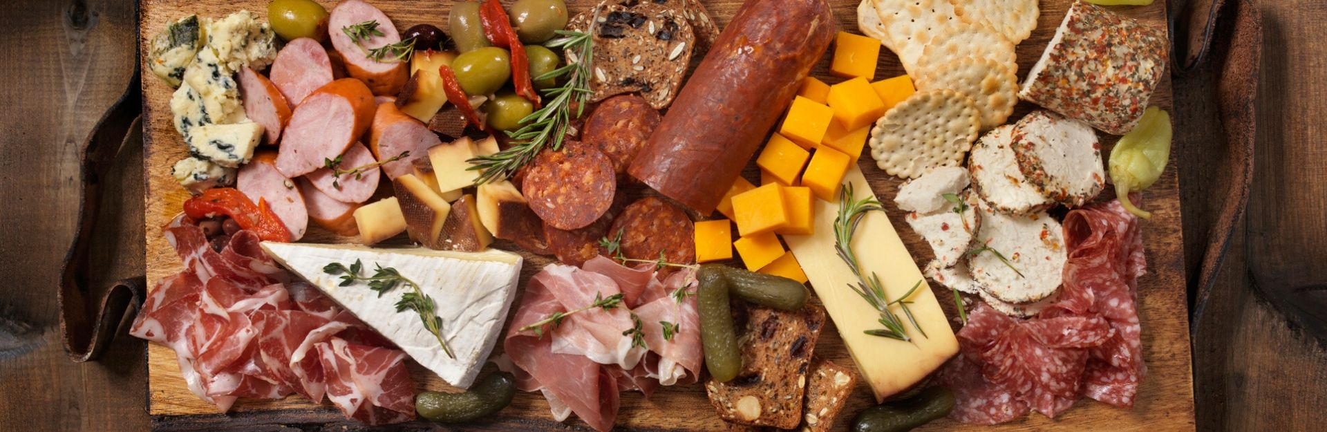 a beautifully arranged charcuterie board